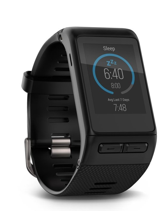 … and can monitor sleep patterns, for analysis on the Garmin Connect app