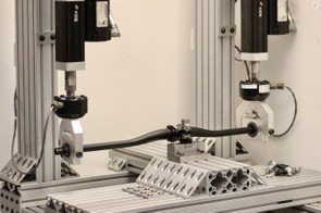 To learn about durability, this bar flex test runs continuous cycles until engineers are satisfied
