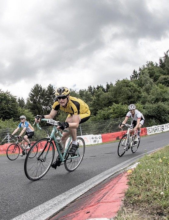 As the race progressed riders became more spread out