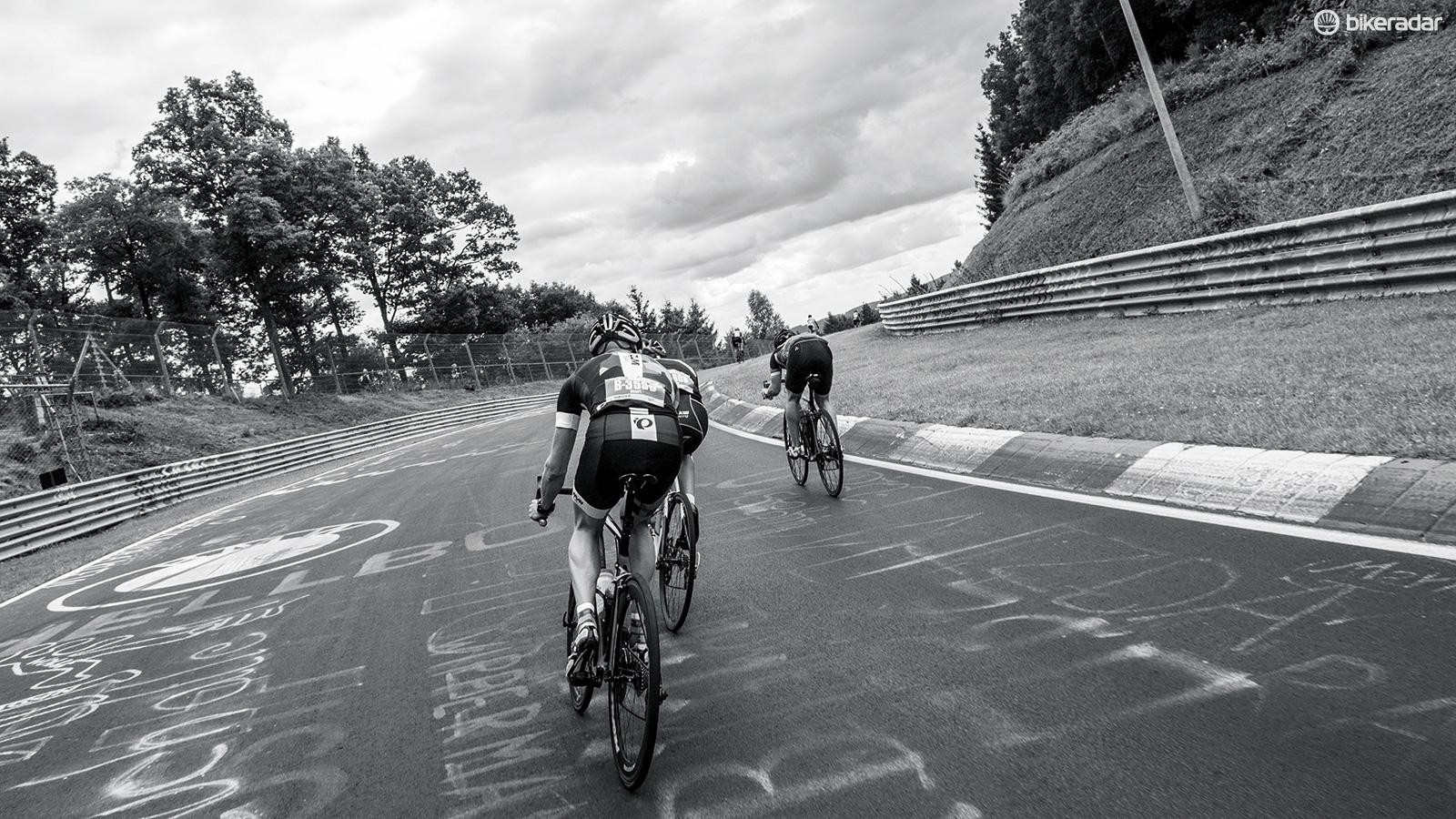 The course was a 15-mile lap with 1,500ft of climbing