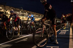 Riding the track at night was a very different experience
