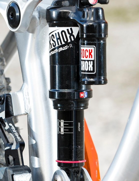 The Monarch-equipped suspension feels beautifully balanced –but we had potentially dangerous issues with a loosening bolt