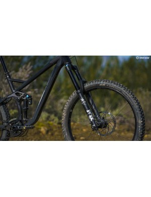 Fox's 36 fork feels stiff and accurate when pushed really hard, though not quite as comfy as the RockShox Lyrik when dealing with big, repetitive hits