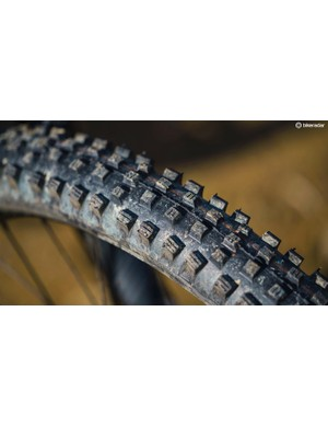 A Schwalbe Magic Mary in the Addix Soft compound is a safe bet in pretty much any conditions, shrugging off everything from mud bogs to deep dust with ease