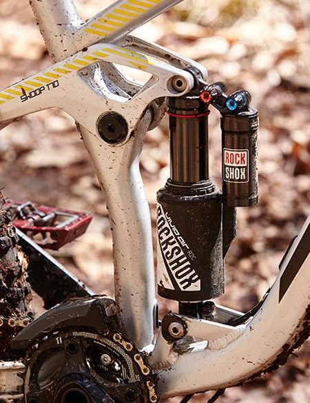 The RockShox Vivid Air rear shock tracks and smooths the terrain seriously well