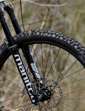 Manitou's supple 150mm Mattoc fork is a spec highlight
