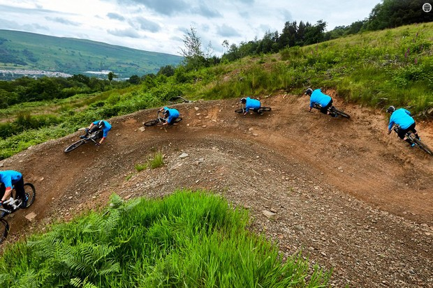 Handle berms like a pro rider