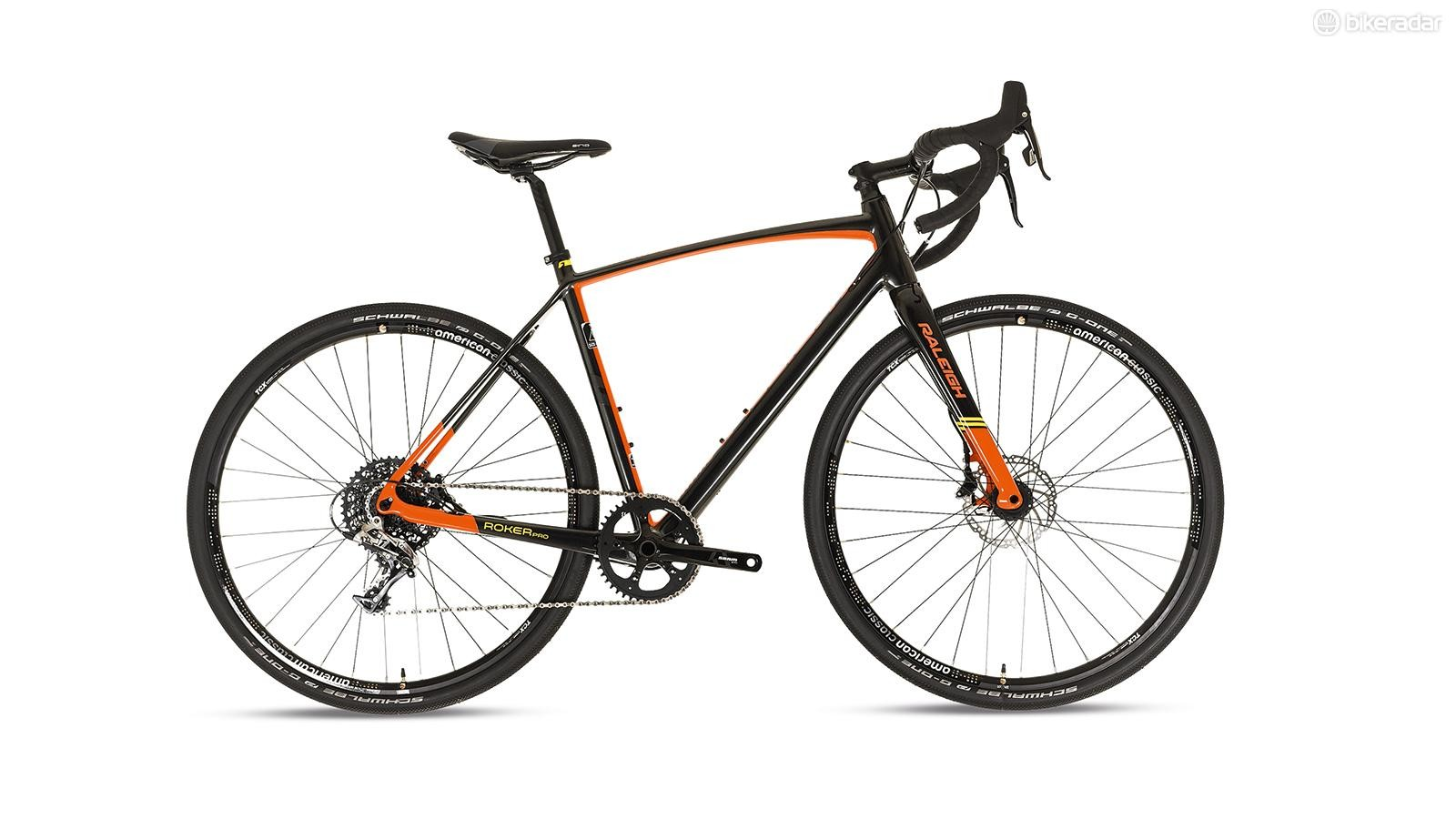 Raleigh's Roker Pro sits second from top of the brand's gravel range