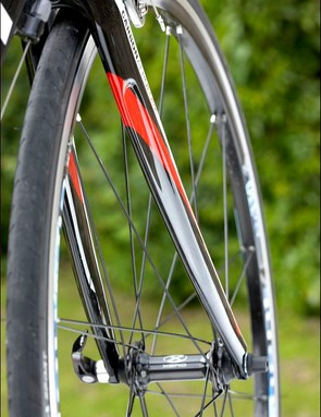 The spoke formation allows for a stiff responsive ride, with a weight penalty
