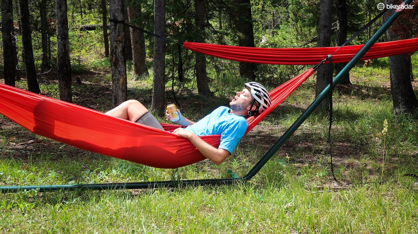 There are also mid-ride pit stops with beer and hammocks