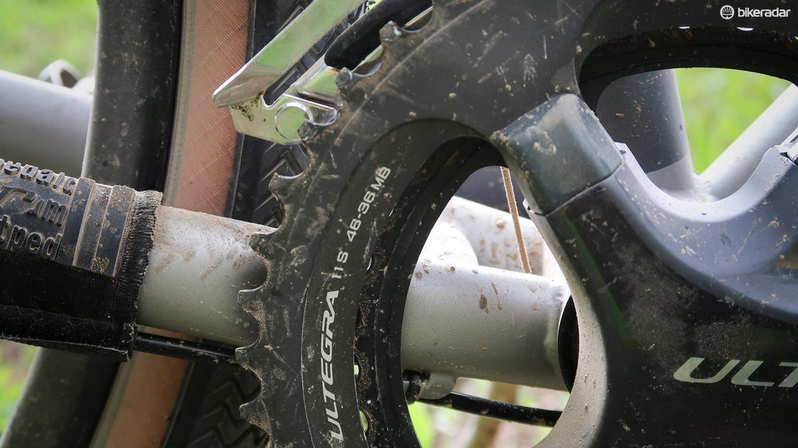The 46/36t chainring combo isn't suited to loaded touring in the mountains