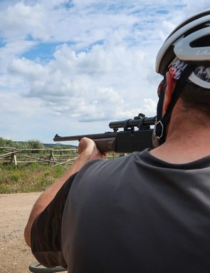 While not an official Ramble event, there was an opportunity for some BB gun biathlon antics