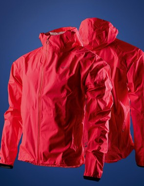 The jacket has two zipped front pockets