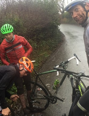 The final, and distinctly not funny, puncture of the day