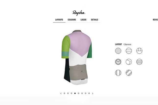 Rapha's new custom online tool allows for quick and easy customisation