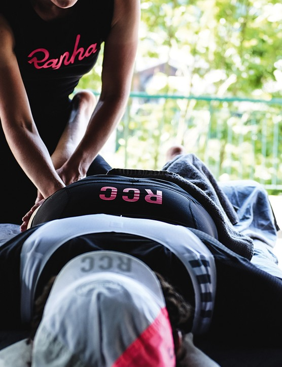 Rapha also runs cycling trips, which include the obligatory post-ride massage