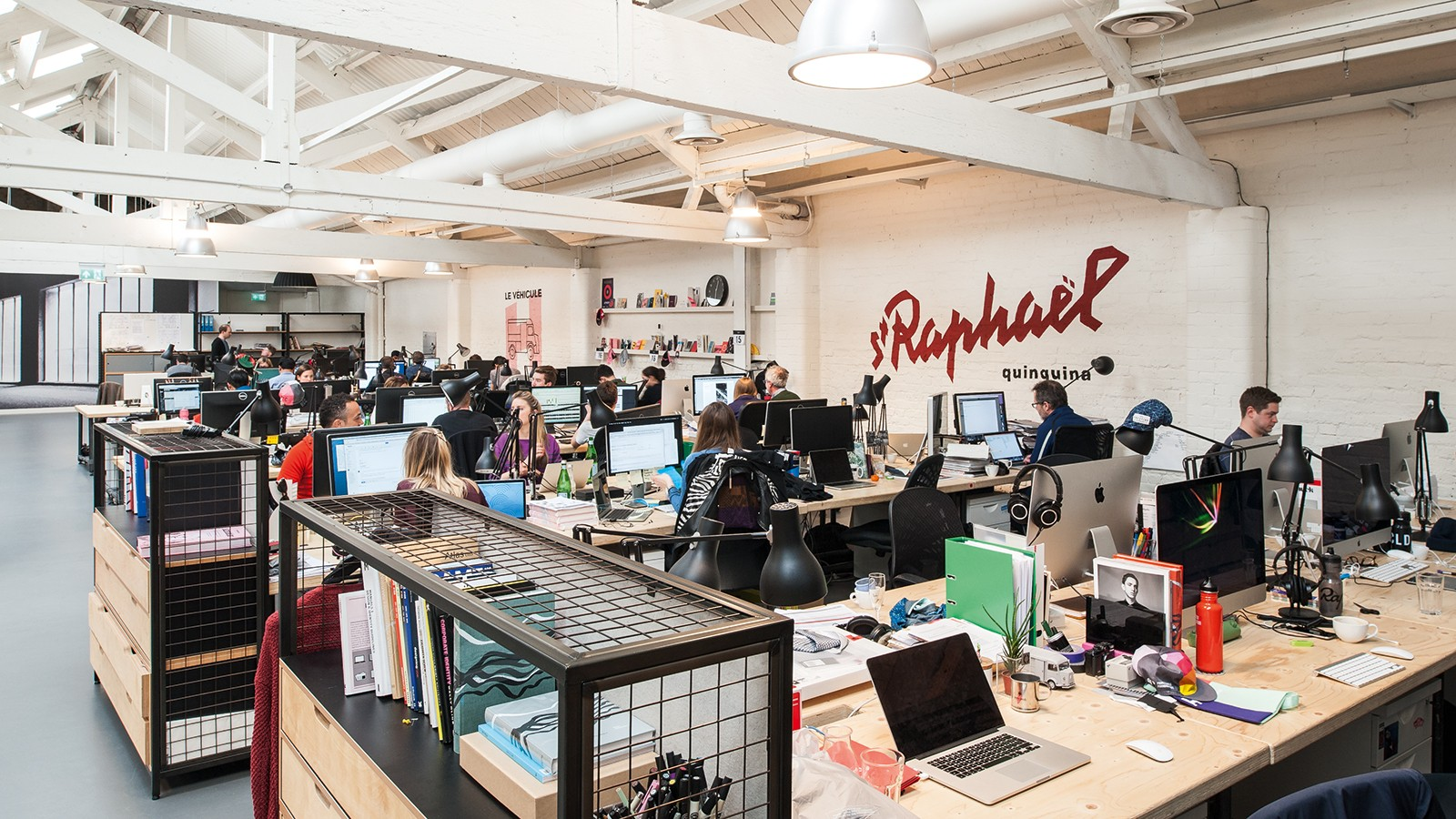 Over 180 people are employed at Rapha's London headquarters