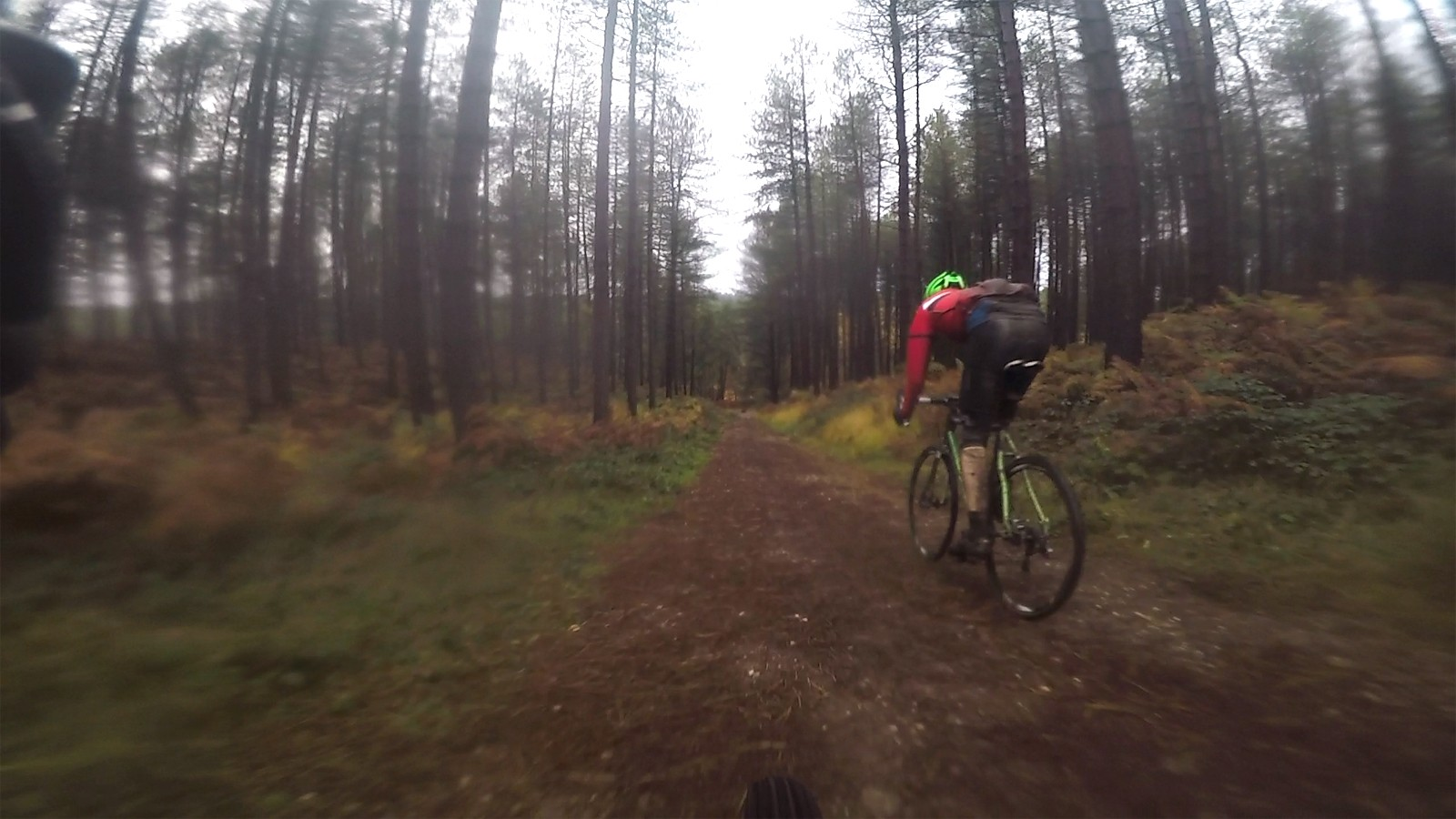 A few descents were approached with little control as the combination of sandy soil and rain had made short work of my brake pads