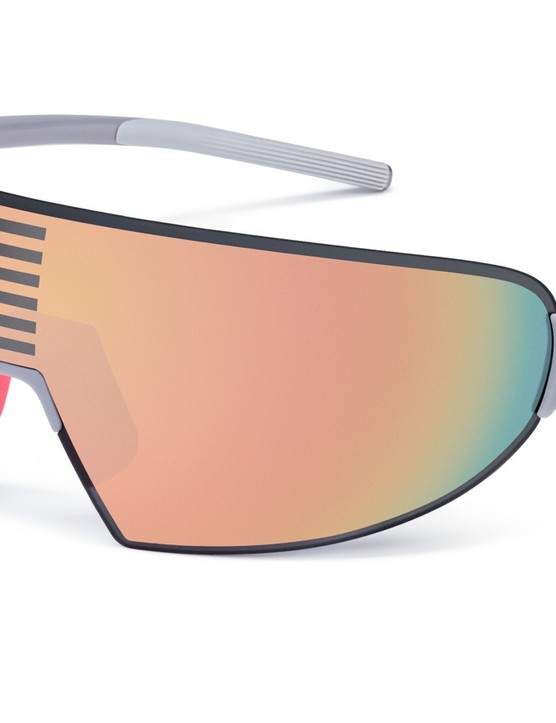 The Rapha Pro Team Flyweight glasses use Carl Zeiss lenses