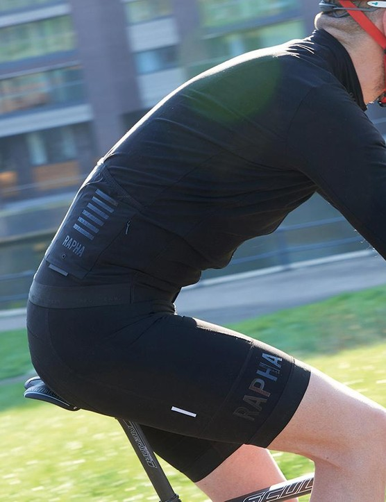 You might want to be seen in Rapha kit but in none-more-black it's rather unlikely