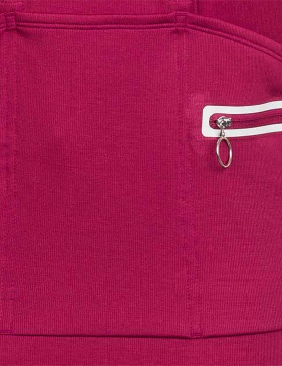 The back pocket design has been redesigned, with a reflective trim added to the valuables pocket
