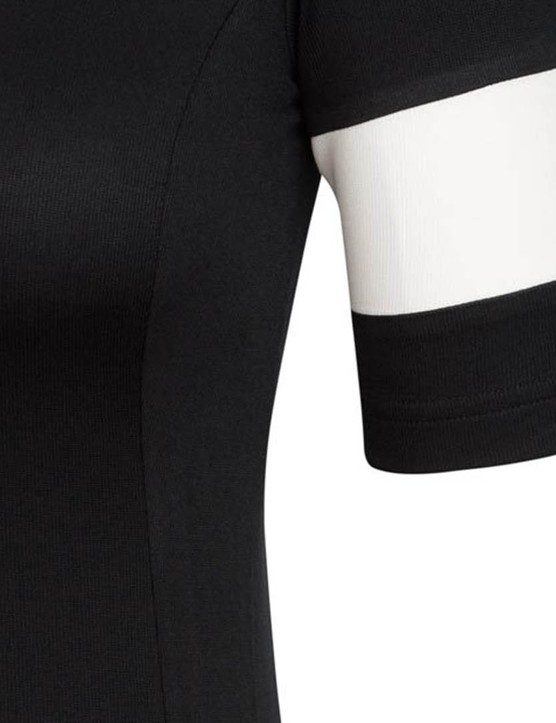 Rapha has chosen a debossed rather than embroidered approach for the sleeve logo