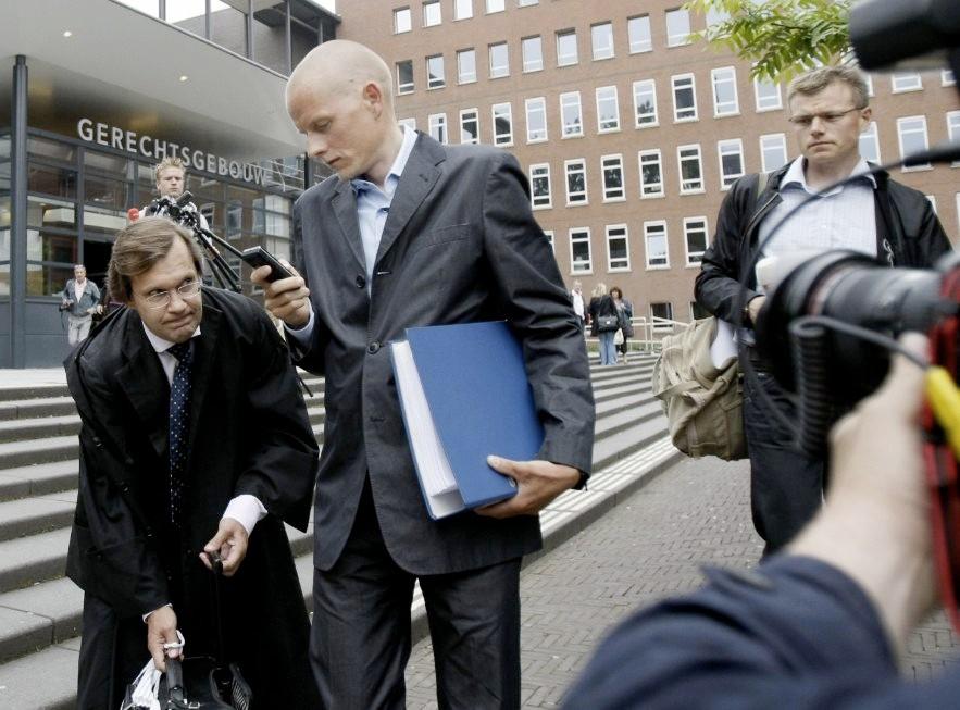Disgraced Danish pro racer Michael Rasmussen in court recently.
