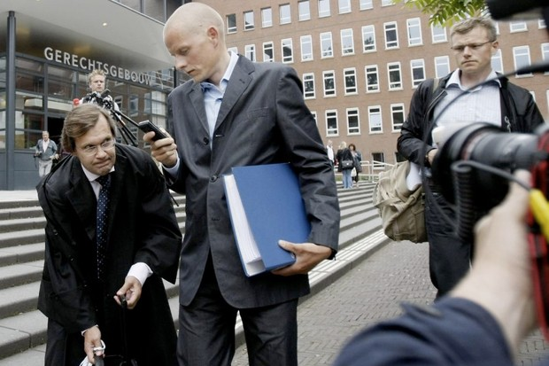 Disgraced Danish pro racer Michael Rasmussen in court recently.