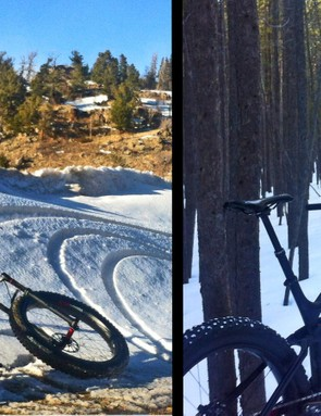 Fat bikes can carve if you apply serious muscle