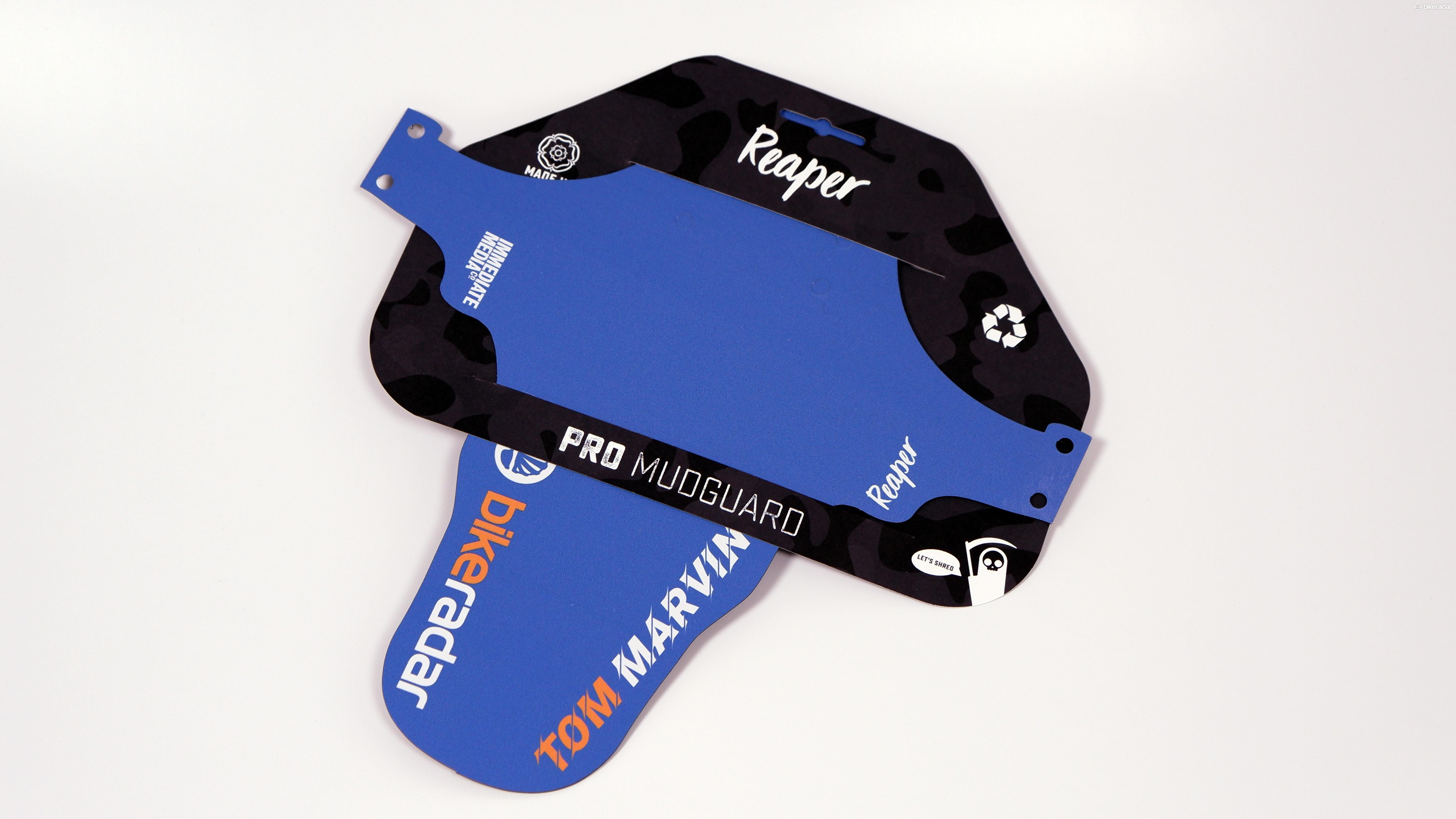 Tom Marvin's going to be the coolest kid on the trails with his custom Reaper mudguard