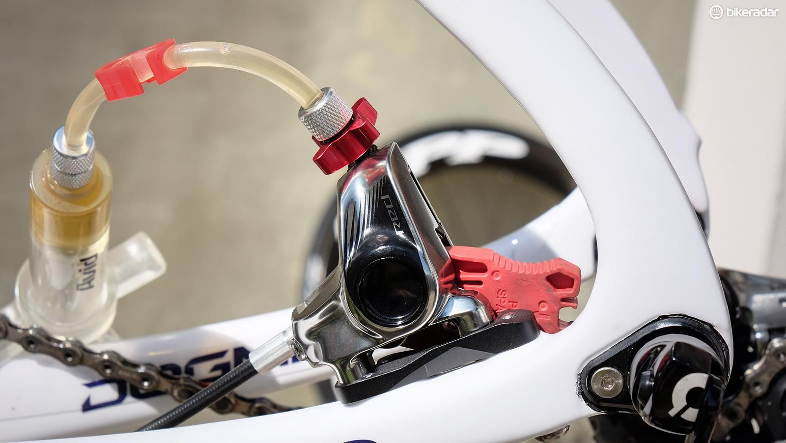 SRAM's Bleeding Edge connects make it much easier — and far less messy — to bleed hydraulic disc brakes