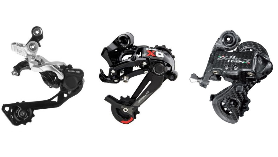 Shimano, SRAM and Campagnolo are the three main players in the drivetrain market