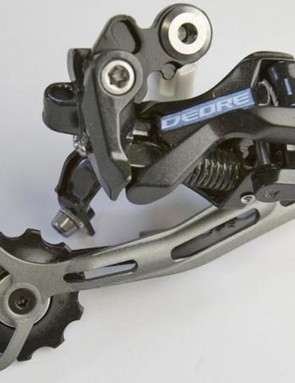 This lowly 9-speed, Deore mech is compatible with nearly two decades worth of drivetrains
