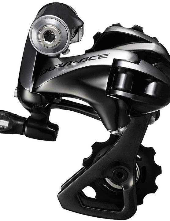 The Shimano Dura-Ace 9000 rear derailleur is a thing of beauty