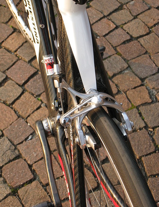 Wilier opts for wishbone-style stays for the Izoard.