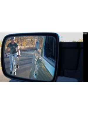 Check your mirror too for cyclists before opening your door