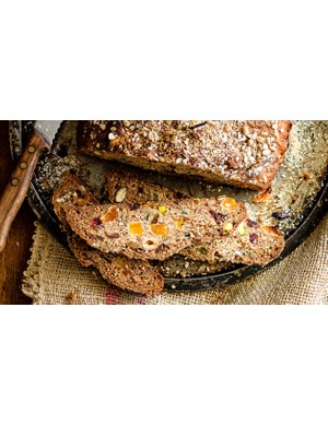 Tasty and fruity muesli loaf makes a great breakfast on the go