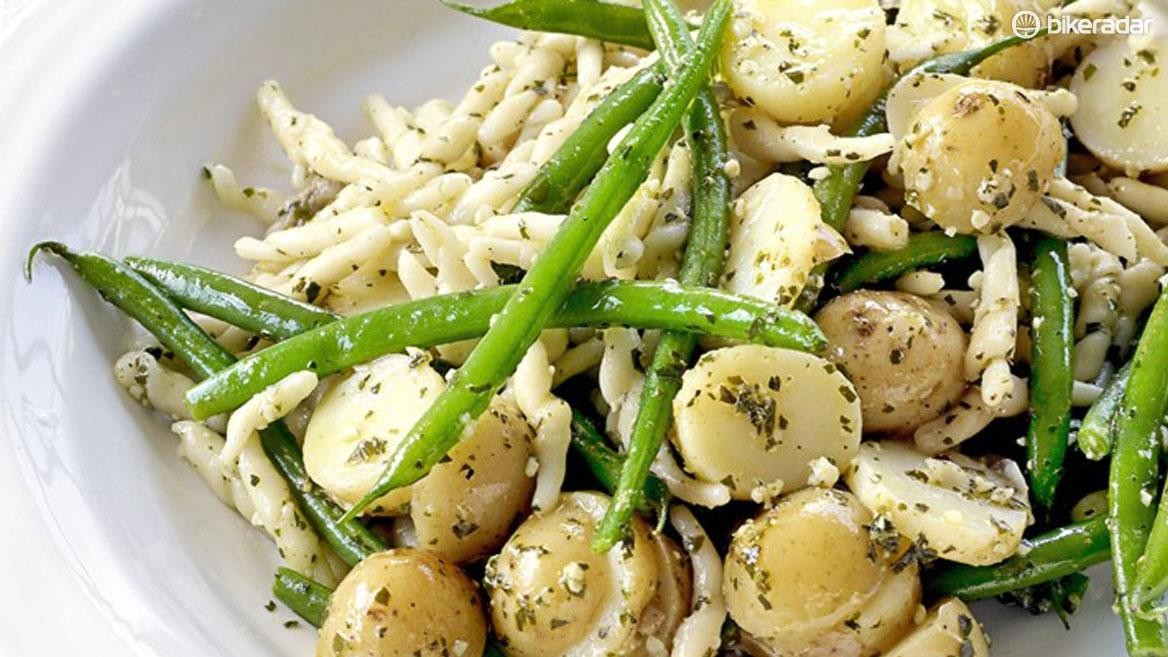 Past and potatoes together provides a serious carbohydrate hit