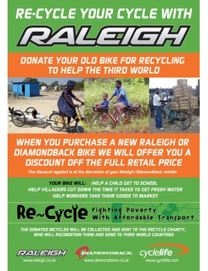 Raleigh and Re-Cycle, a UK partnership for Africa.