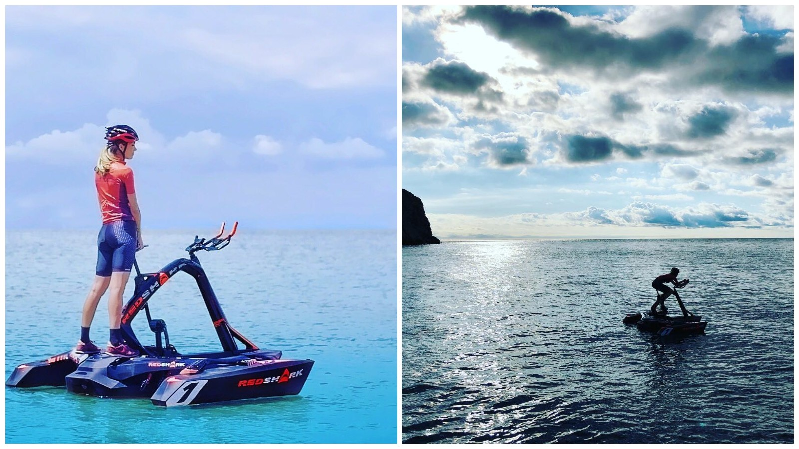 The RedShark is a pedal-powered trimaran for training and adventuring on the high seas