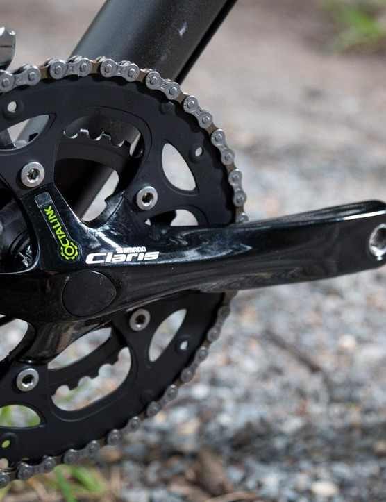 Claris cranksets aren't flashy but they provide for quick and reliable shifting