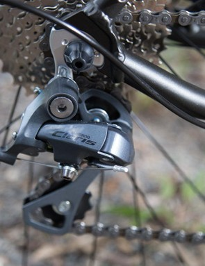 The Granite comes with a long-cage derailleur to handle the wide range gearing