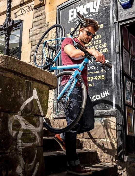 The bike's frame is Columbus Niobium steel