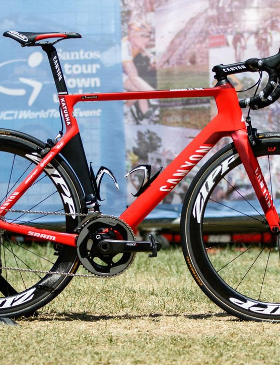 A detailed look at the Canyon Aeroad CF SLX of Katusha's new signing Rein Taaramäe