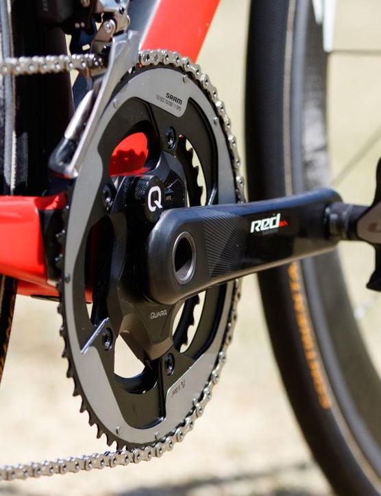 There's little similar about this though, the components from the house of SRAM are all new to Katusha. Moving away from Shimano also means a change of pedals, and Katusha are now on Look
