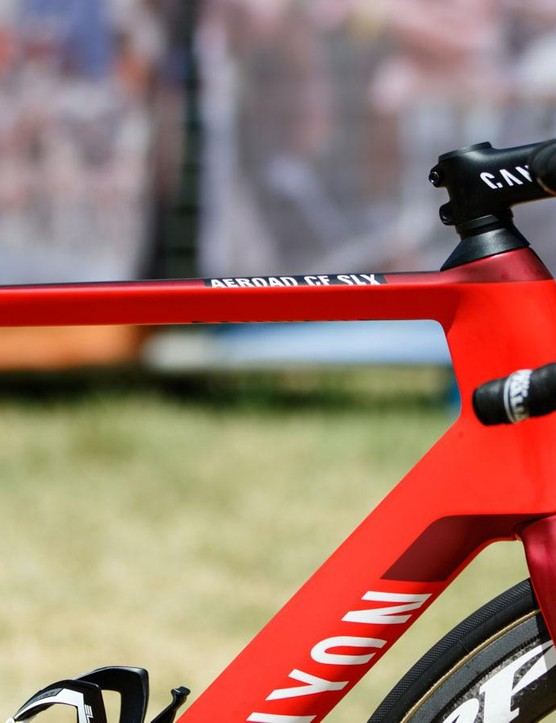 The Canyon Aeroad CF SLX is a top-tier aerodynamic road bike