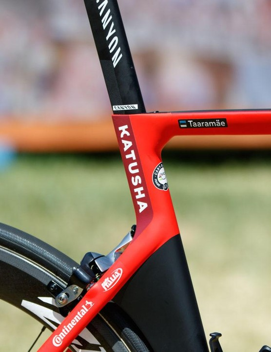 The Katusha frame colours are much the same from 2015