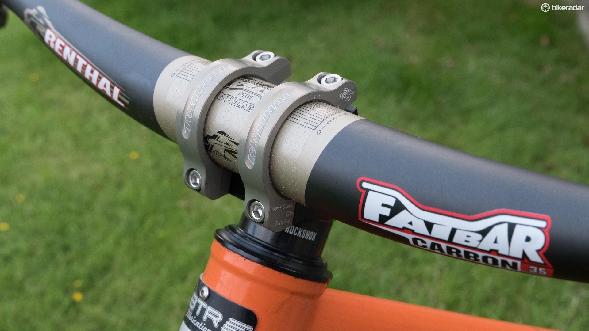 RENTHAL FATBAR 35  35mm x 800mm x 10mm RISE BLACK MTB HANDLEBAR