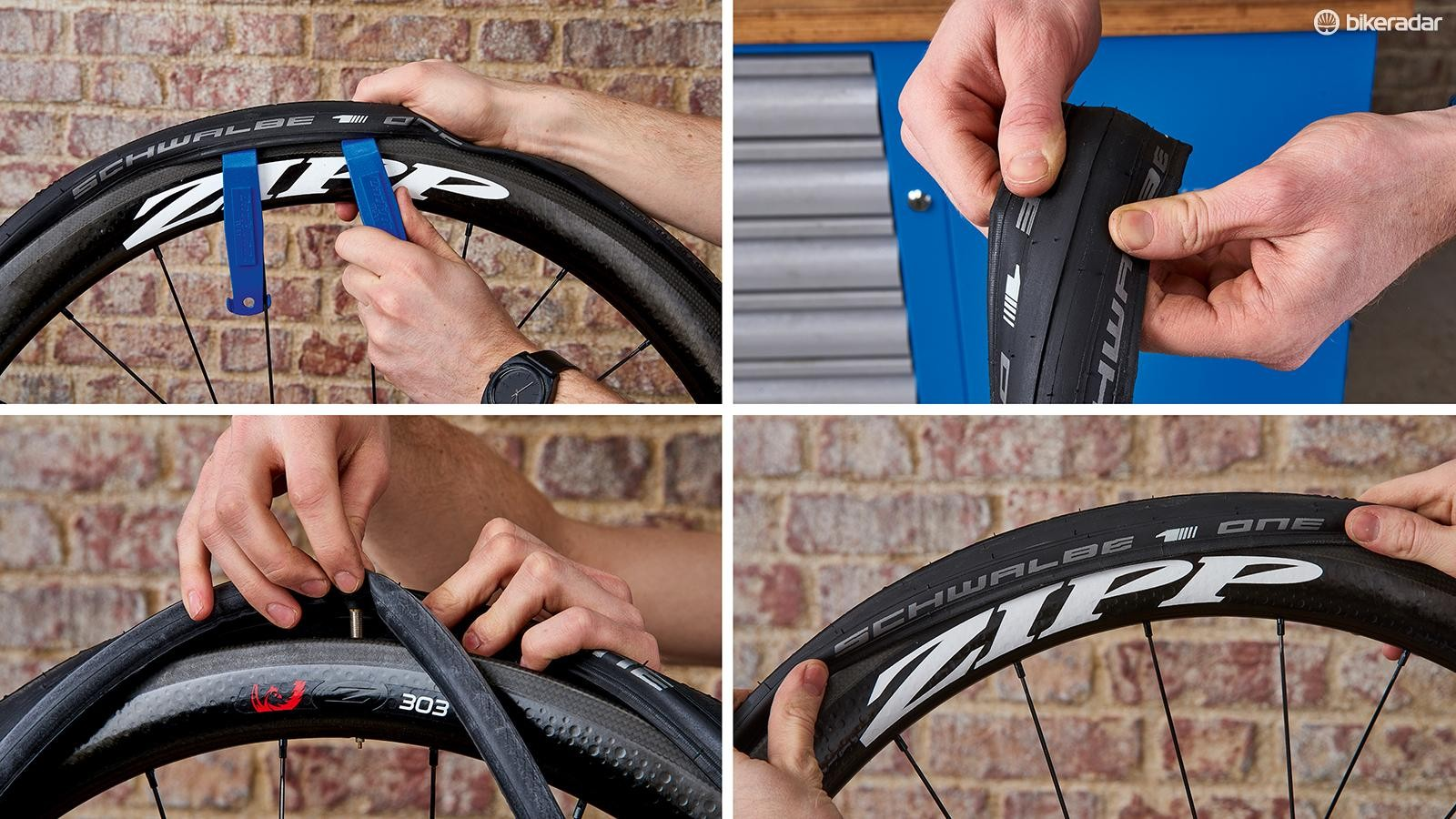 Perhaps the most essential of all bike fixes, replacing an inner tube after a puncture