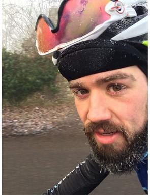 Frozen beard, frozen sunglasses and frozen eyelashes. Rule #5 accomplished?